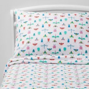 NEW Pillowfort Species Study Bugs Sheet Set